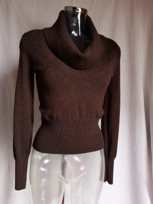 Repeat Maglione di lana marrone scuro-marrone-nero