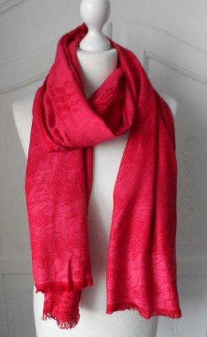 edler XL Schal aus Viscose Rot nur sehr wenig getragen