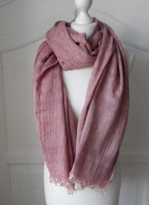 edler XXL Esprit Schal Rosa aus Viscose wenig getragen
