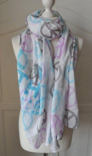 edler XXL PEACE Schal von CODELLO aus Baumwolle wenig getragen