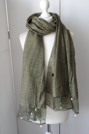 Silk Scarf khaki mixture fibre