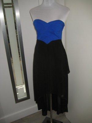 Edles Apricot Bandeau Kleid schwarz blau Corsage Gr.XS