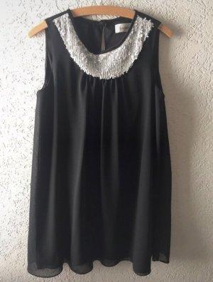 Asos A-lijn jurk zwart-zilver