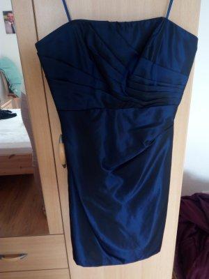 edles blaues kurzes Kleid Zero