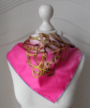 edles Codello Seiden Tuch mit Gürtel Muster 89 x 89 cm NEU ohne Etikett