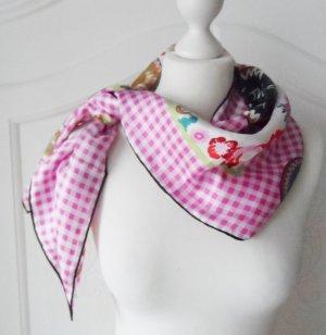 Codello Foulard en soie rose-blanc soie