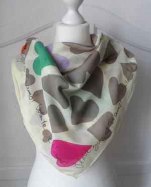 edles Codello XL Halstuch Bunt mit Seide wenig getragen