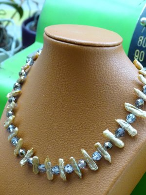 Collier Necklace sand brown-grey brown