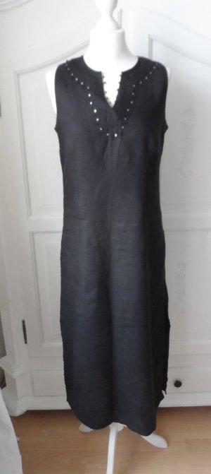 edles Couleurs d `ete (3 suisses) Leinen Kleid Gr. 38 Schwarz 1 x getragen