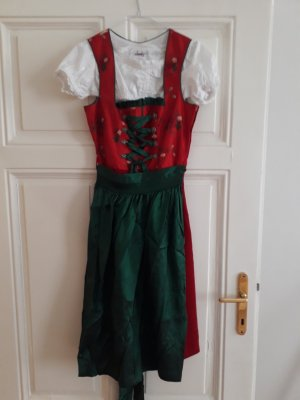 Edles Country Line Dirndl in rot/grün
