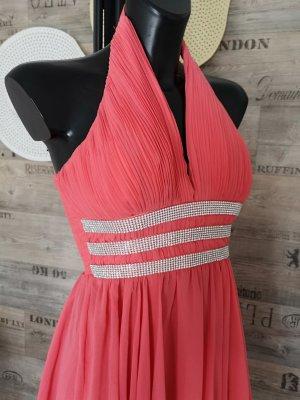 Edles Damen Kleid  mit Strass Steine  BLING BLING Schmuck Festliches Kleid Cocktailkleid Abendkleid Neckholder Kleid Tanzkleid passt bei 36 & 38