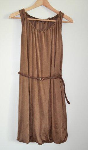 Edles Esprit Ballonkleid in Bronzebraun, nur 1x getragen XS wie S oder 36