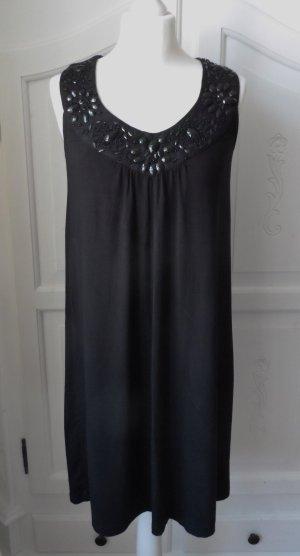 esprit collection Vestido de tela de jersey negro tejido mezclado