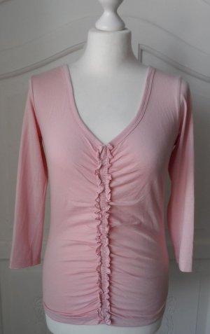 edles ESPRIT Shirt mit Rüschen Gr. S Hellrosa wenig getragen