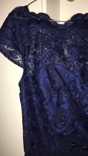 Chi Chi London Evening Dress dark blue-blue viscose