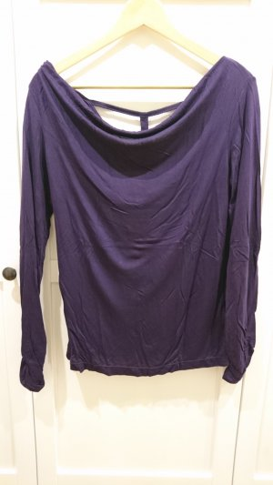 Cowl-Neck Shirt blackberry-red-dark violet viscose