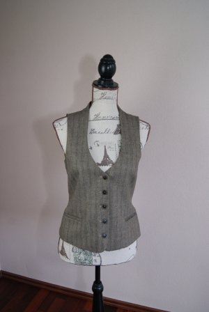 edles GILET in Gold/Braun von Jones 49%Wolle