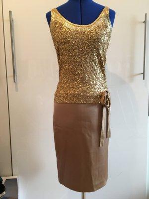 Edles gold beiges ESCADA Outfit Gr. 34 NEU
