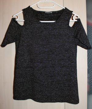 Edles grau silbernes cut out Shirt, schulterfrei von Only