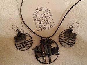 edles handgemachtes Schmuckset - Halskette und Ohrringe