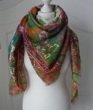 Foulard multicolore laine