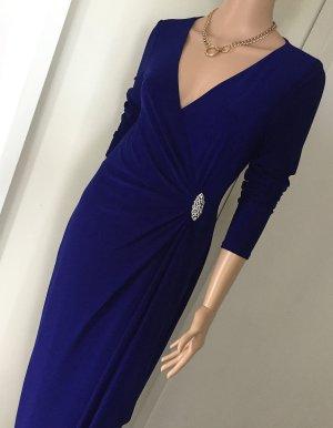 Edles hochwertiges Designerkleid, Cannes blue, schlanker Schnitt, 1x getragen, Abendkleid, Ballkleid, Festkleid