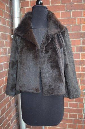 Blacky Dress Fur Jacket black brown-dark green fur