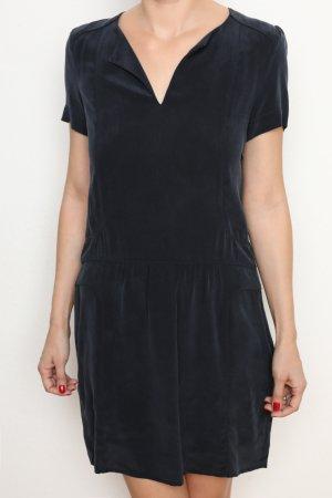 edles Kleid aus 100% Seide dunkelblau Comptoir des Cotonniers