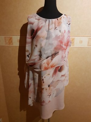 Edles Kleid - Blumenmuster - Pastell - Gr. 44/46 - Neu mit Etikett