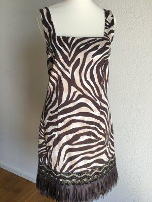 Edles Kleid Etuikleid von LAUREL mit Pailletten und Fransen am Saum Gr. 34