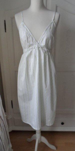 Bamboo Dress white-pale green cotton