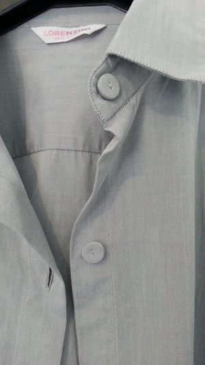 Lorenzini Vestido camisero azul pálido-azul celeste Algodón