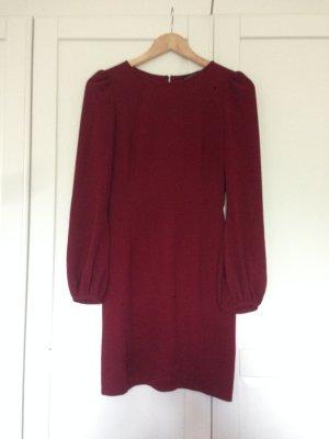 Edles Kleid in bordeaux rot mit tulpenförmigen Ärmeln (Größe 36)
