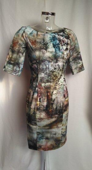 edles Kleid mit schönem Motive Wald Bäume