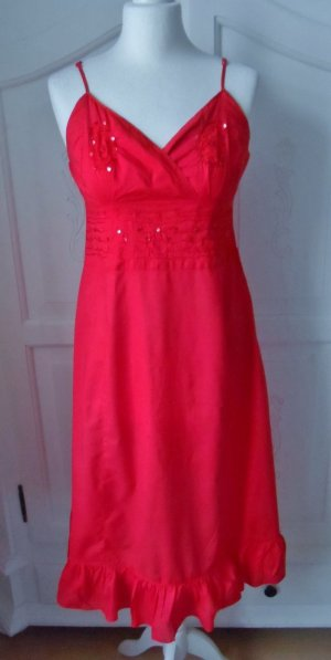 edles Kleid von Miss H. Gr. 38 Rot mit Pailletten nur wenig getragen