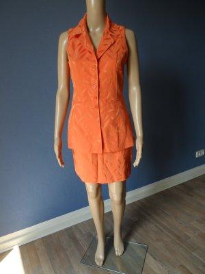 Costume orange acétate
