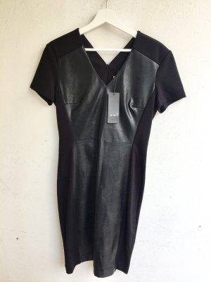 Oui Leather Dress black