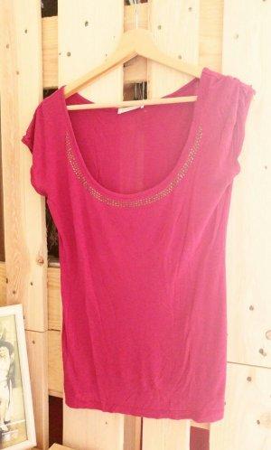 Edles magenta-rotes T-Shirt von Promod