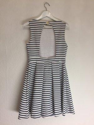 Edles Marine A-Linien Kleid mit WOW-Rücken