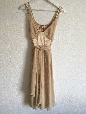 Edles nude goldenes Cocktailkleid - Brautjungfer / Hochzeit
