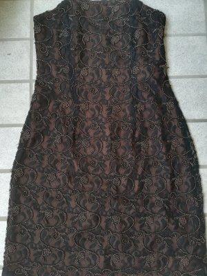 Edles, Perlenbesticktes Kleid aus Spitze mit Unterkleid, Gr. M, Sehr guter Zustand