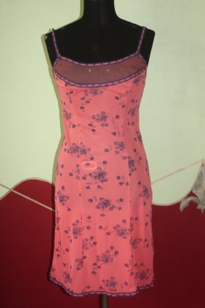 edles Pompadour Unterkleid lachs edel 38 Vintage Negligee