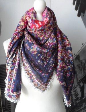 edles PROMOD Tuch aus Baumwolle mit Blumenmuster wenig getragen