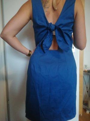 Edles royal blaues Kleid mit trendy Cut Out und Schleife hinten, Gr. 38