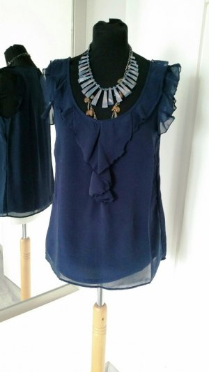 Only Ruche blouse donkerblauw