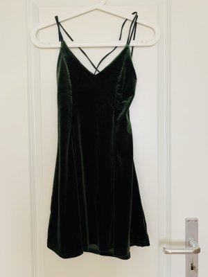 Urban Outfitters Mini-jurk donkergroen