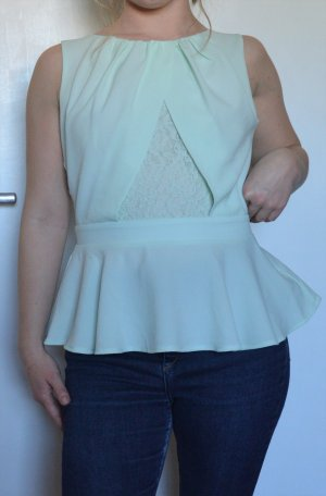 Lipsy Peplum Top lime-green-pale green polyester