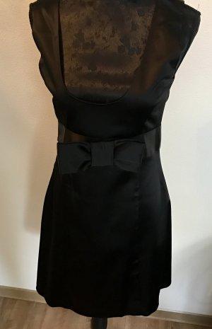 Edles schwarzes Kleid mit Schleife