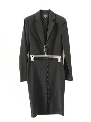 Edles schwarzes Kostüm schmal geschnitten Gr. 32/34 Mexx