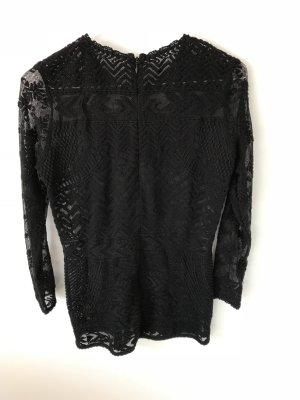 Edles schwarzes Oberteil mit Strickelementen von Isabel Marant pour H&M in Größe 36